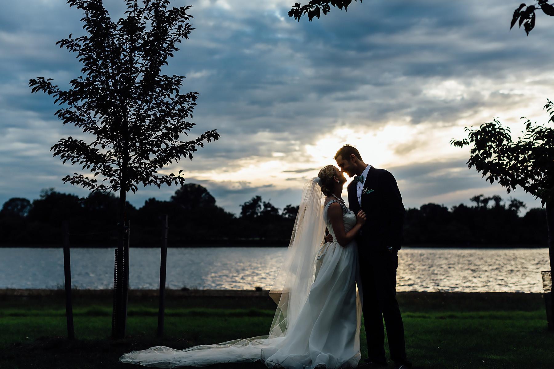 Washington, DC Bride & Groom Sunset Portrait