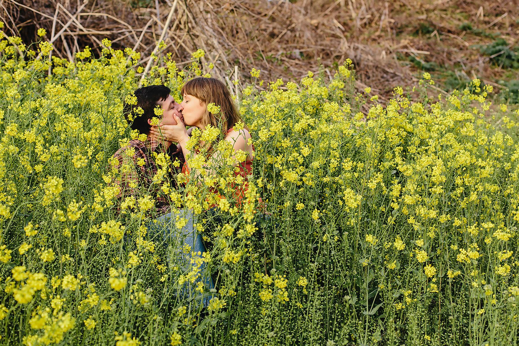 Dandelion Engagement Photography