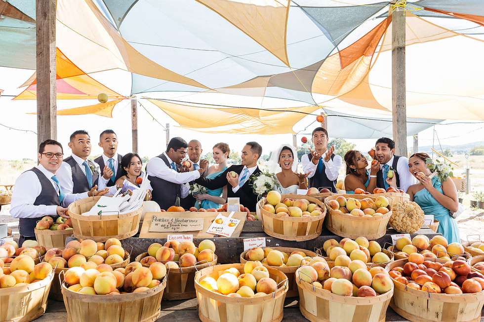 Bridal Party Fruit Stand