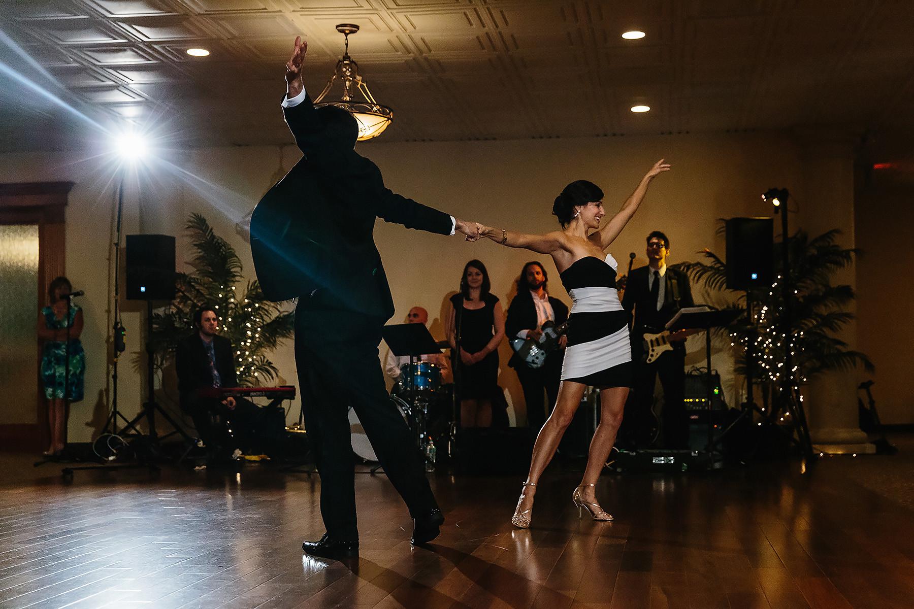 Bride & Groom First Swing Dance