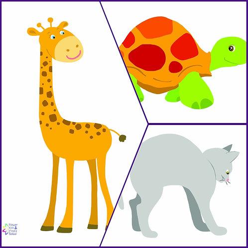 24 Κάρτες με Ζώα σε διάσταση Α5