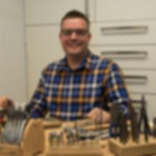 Sander in atelier