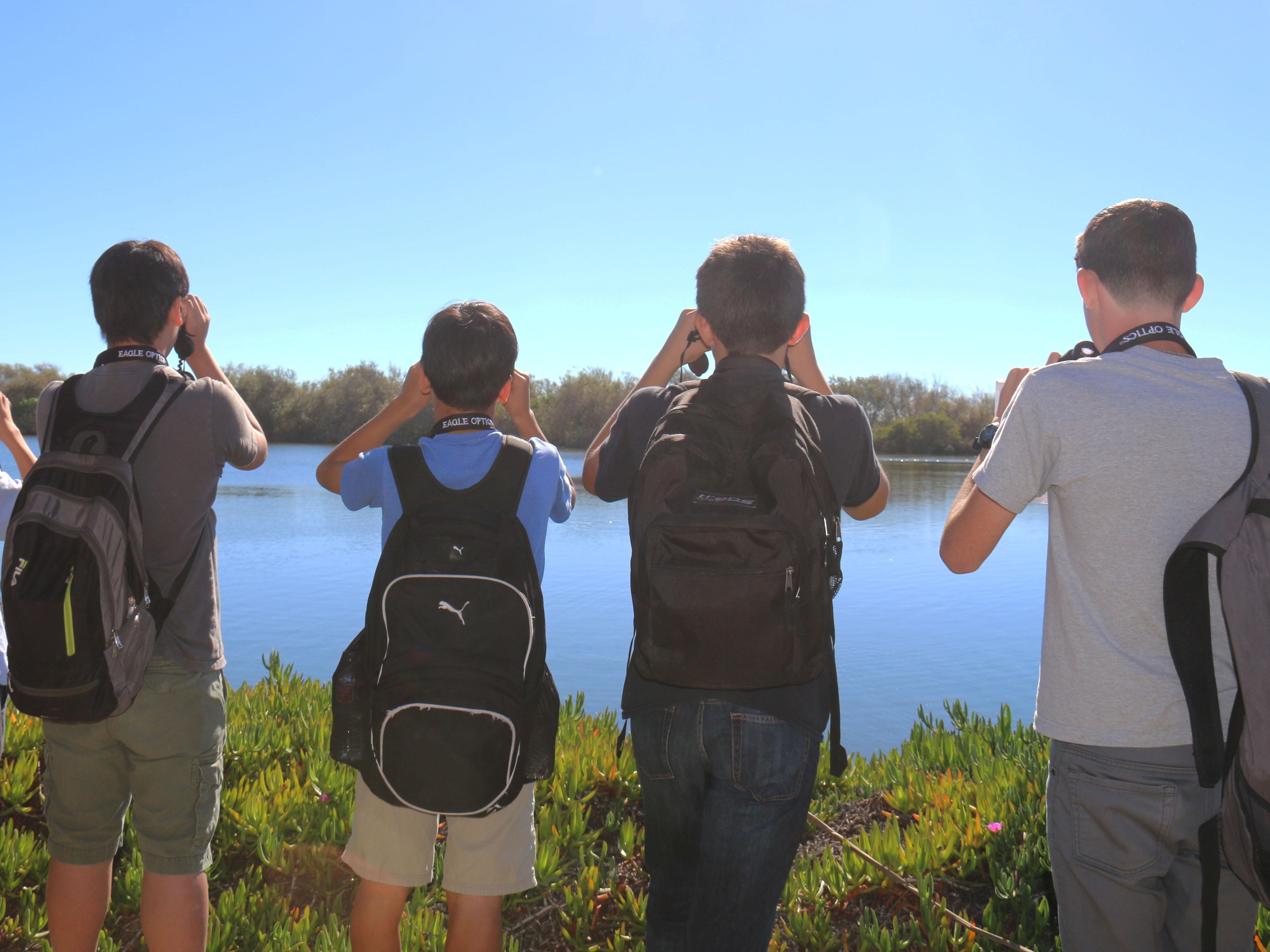 School Students Birding