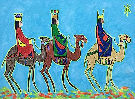 Tres Reyes en Camellos