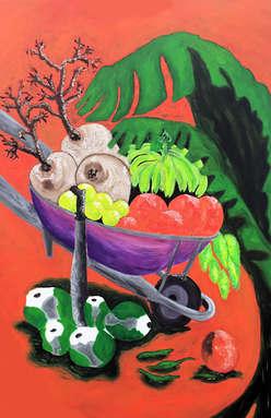 Carretillas de Frutas Tropicales