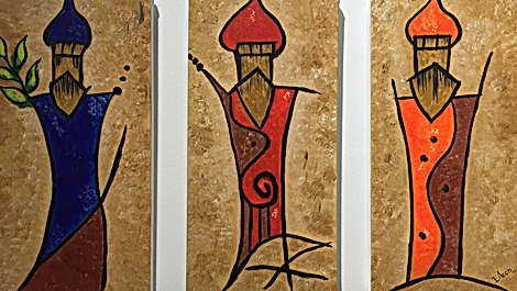 Tres Reyes Abstract (Thryptic)