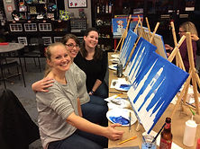 Frederick MD Clustered Spires Canvas Painting Party Girls Night Out Hot Fired Arts