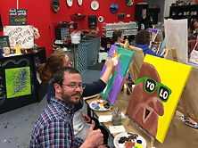 Paint your Pet Canvas Painting Hot Fired Arts Fundraising Frederick MD