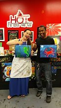 Couples canvas painting Date Night Frederick MD