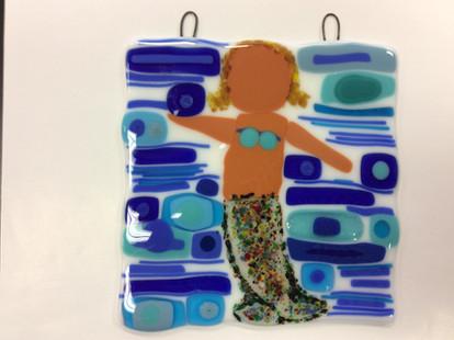 Fused Glass Mermaid