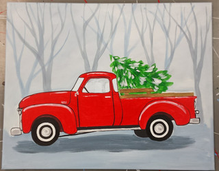 Vintage Truck Painting