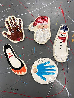 clay hand prints, things to do in Frederick, md, kid friendly,