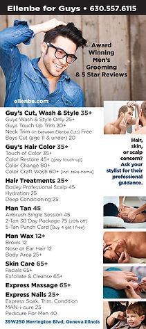 Award Winning Men's Hair Care at Salon and Spa Ellenbe MENU
