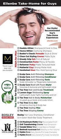 Award Winning Men's Hair Care at Salon and Spa Ellenbe Take-Home Menu