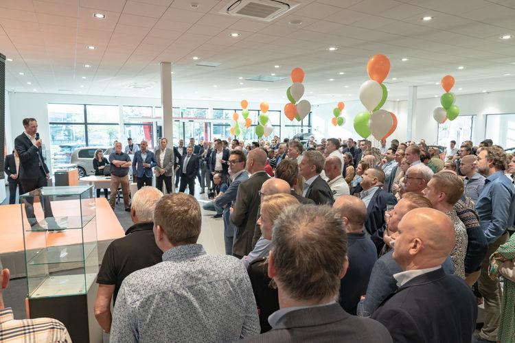 Bedrijfsfotografie opening en lancering auto occasion @Rotterdam