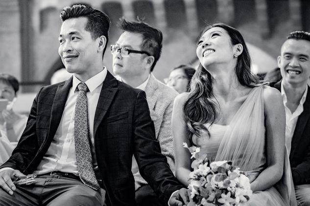 Zusje van Chinese bruid in tranen wanneer het huwelijk wordt voltrokken @Kasteel Montfoort Utrecht
