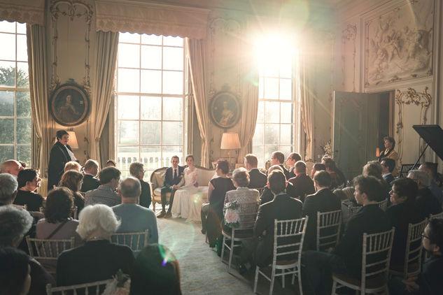Klassieke romantische trouwceremonie in huys ten donck in Ridderkerk en Rotterdam