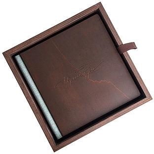Luxe trouwalbum met een omslag van hout