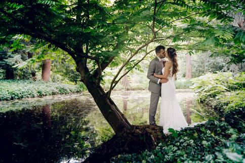 Fotoshoot met bruidspaar @Park Schoonoord Rotterdam