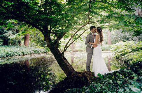 Fotoshoot met bruidspaar @ Park Schoonoord Rotterdam