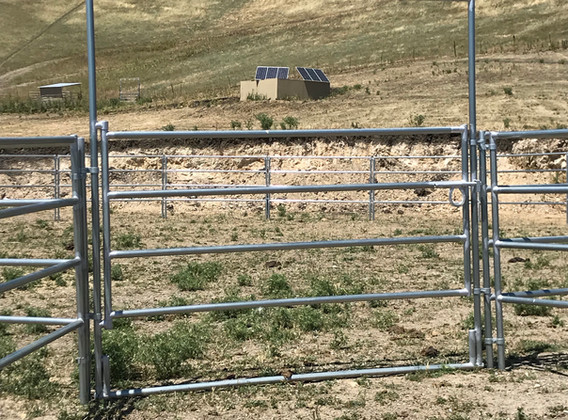 8' wide gate