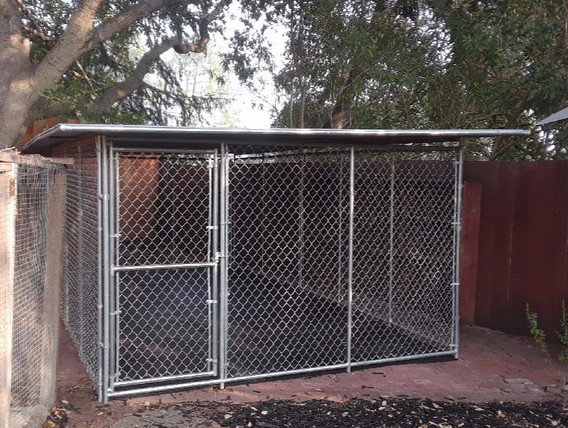 10' x 20' kennel w/ extra roof