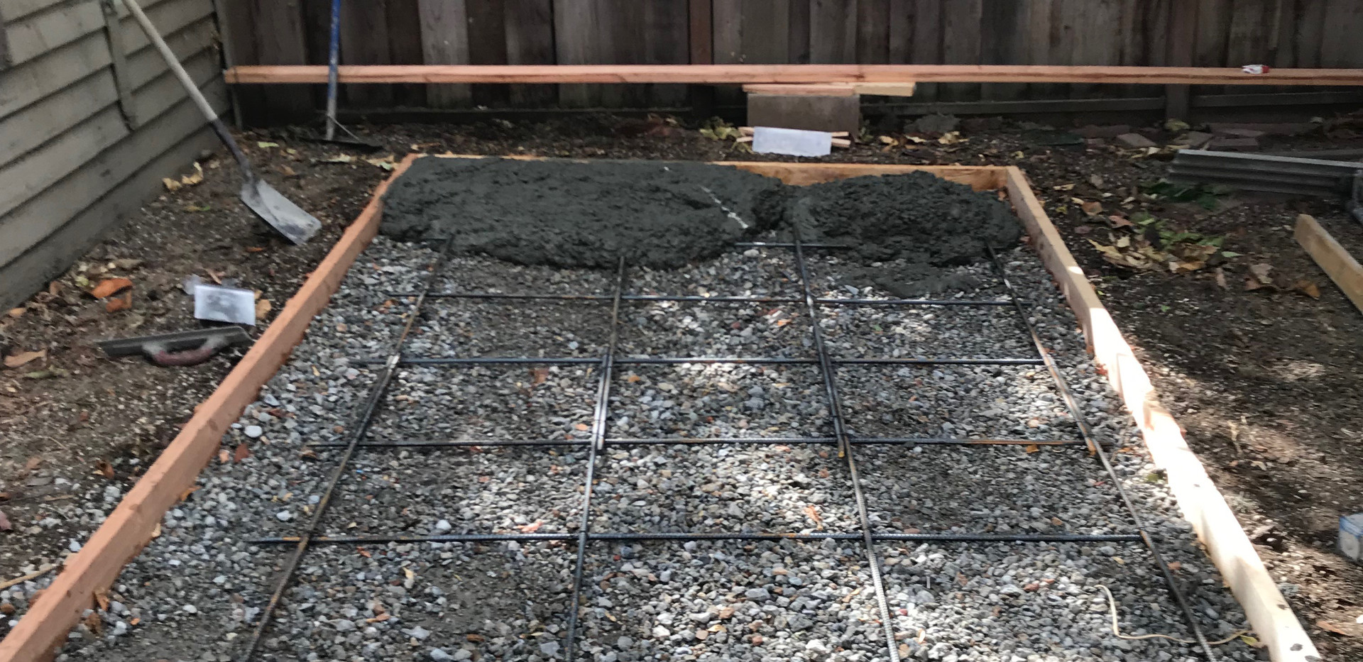 Forms before our concrete pour