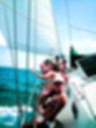 Under sail!