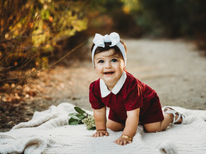 Davina Turns One and Wears Red