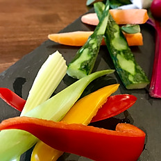 Vegetable sticks Bagna cauda dip