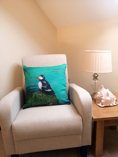 Puffin Cushion + filler