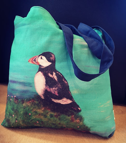 Deluxe Puffin Tote Bag