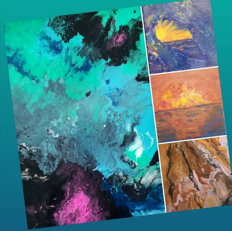 Acrylic Pour Collage