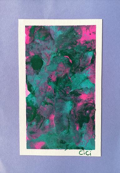 Acrylic Fluid Print, Lavender