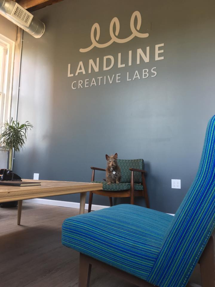 Our lobby at Landline Creative Labs.