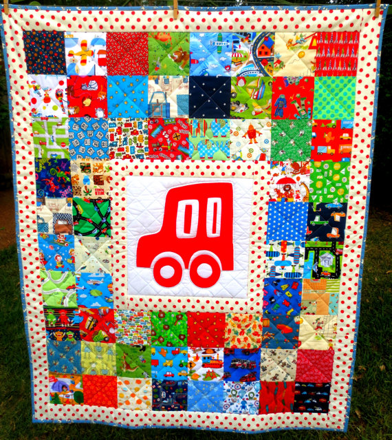 Retro Boy's On the Go Quilt