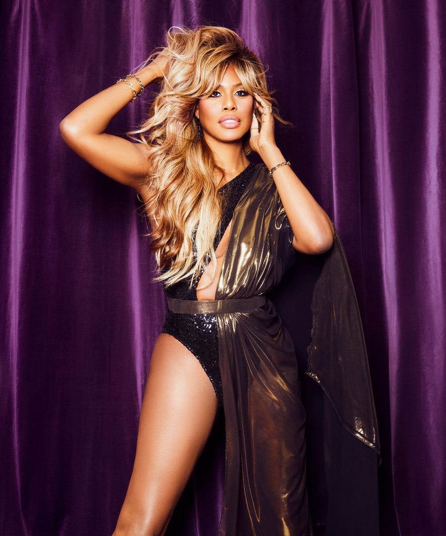 Laverne Cox for the American Music Awards 2020 Wearing Custom dress @michaelcostello, Jewelry @nancynewberg Styled by @christinajpacelli Makeup @theladydeja Hair styling @kimblehaircare Hair color @deetrannybear Photo @sequoiaemmanuelle Photo assistant @mariaqphotography