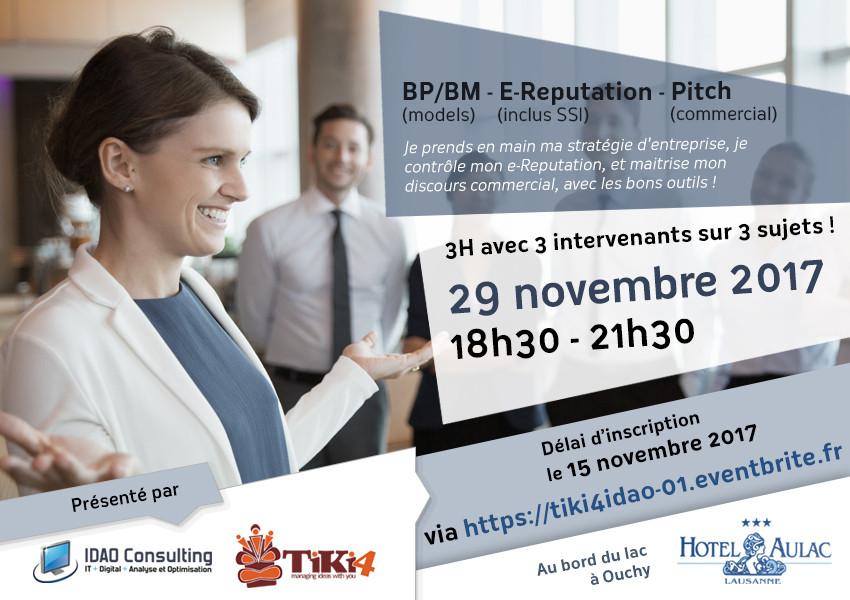 Workshop Tiki4 et IDAO - AuLac à Ouchy/Lausanne - 29 Novembre