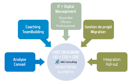 IDAO Consulting - Pascal Metrailler + Chief on demand et mandat IT et WEB coaching teamleading