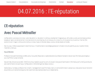 Conférence e-Reputation du 4 Juillet