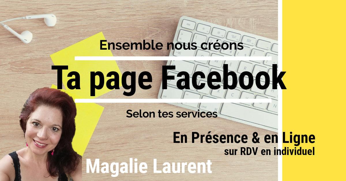 Ensemble créons ta page Facebook