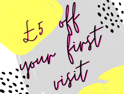 Save those hard earned pounds with £5 off your first visit!