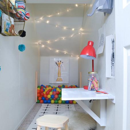 Crea tu propio playroom en un rincón de tu casa