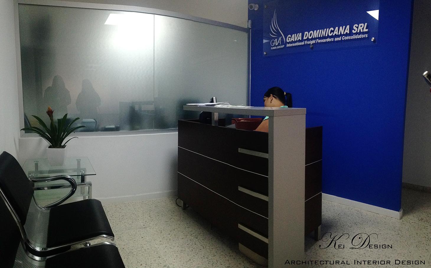 Recepción de oficina corporativa