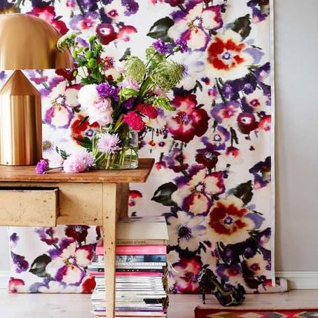Tendencia: Papel tapiz y telas florales