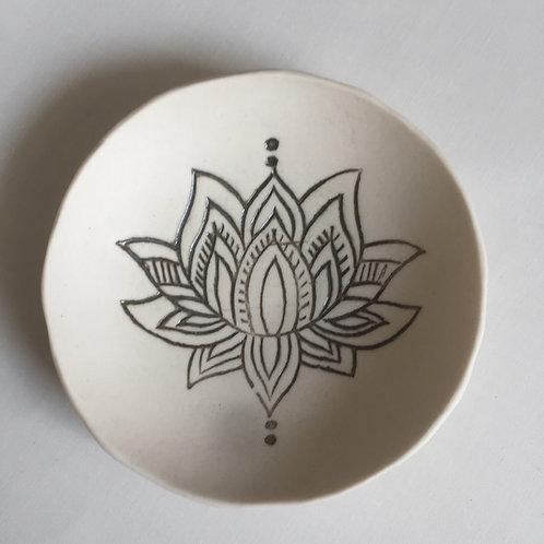 Porcelain Lotus Dish