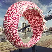 Magico Atomo, NYC, Fulton Ferry  Landing, Public installation part of Project Zero, LaMerWaveWalk