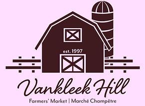 Vankleek Hill Farmers' Market logo in pink