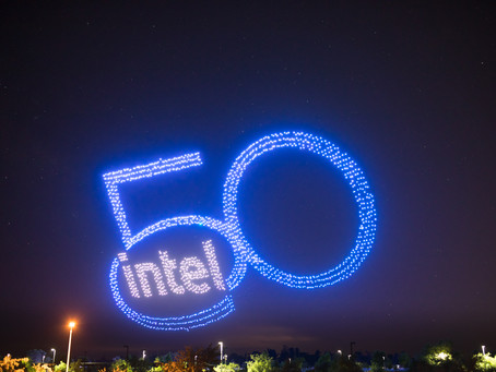 An Explosion of Color and Light: Capturing Intel's Record Breaking 50th Anniversary Drone Show