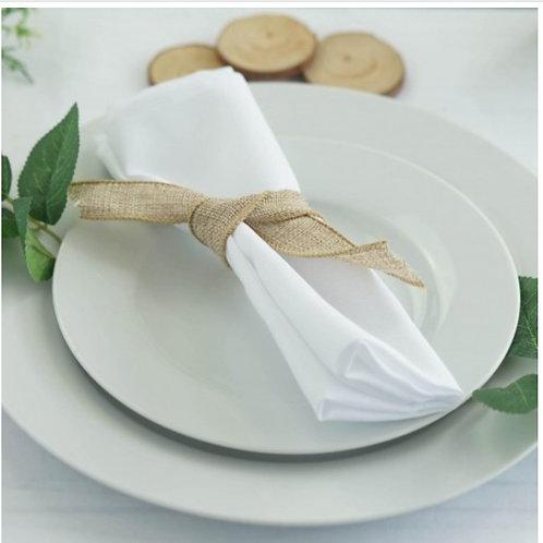 SERVIETTES DE TABLE BLANCHES